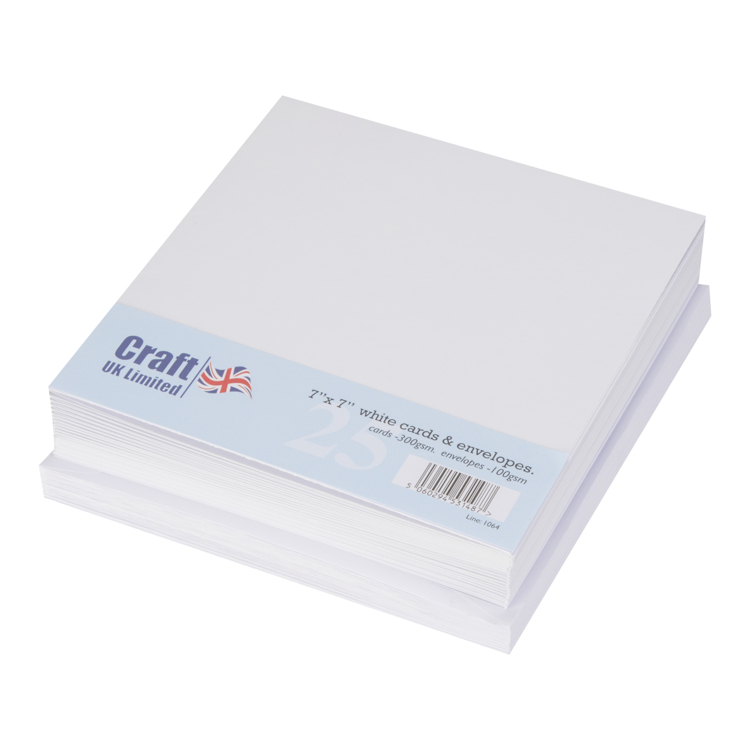 Craft UK Limited Cards & Envelopes 17x17cm White 25 stuks