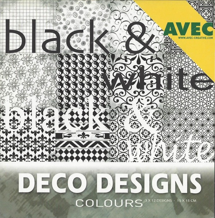 Deco Designs Paper Pack 15x15cm Black & White
