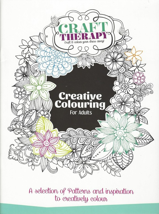 Book A4 Creative Colouring for Adults 16 pagina's
