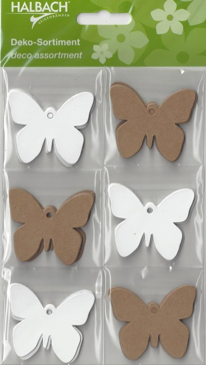 Halbach Paper Tags Butterfly's Kraft / Wit