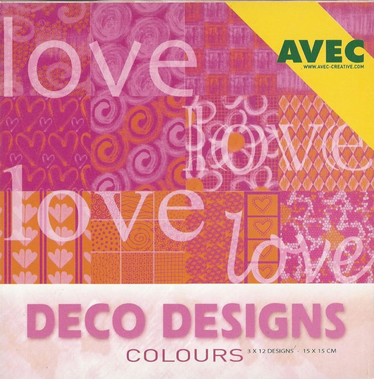 Deco Designs Paper Pack 15x15cm Love