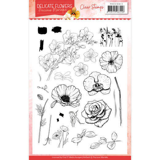 Clear Stamps - Precious Marieke - Delicate Flowers