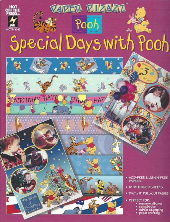 Winnie the Pooh A4 Doe boek Special Days with Pooh