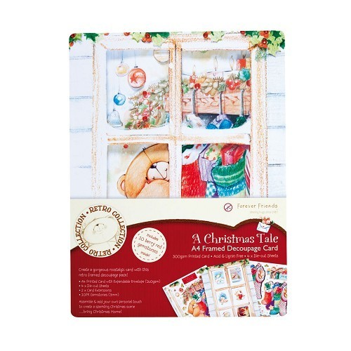 Forever Friends A4 Card kit A Christmas Tale Pak van 4 stuks