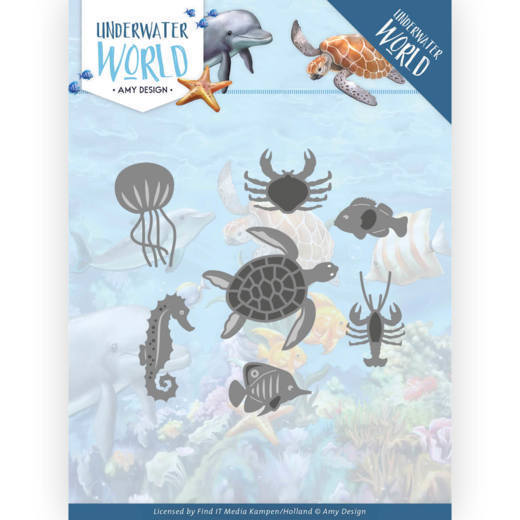 Dies - Amy Design - Underwater World - Ocean Animals