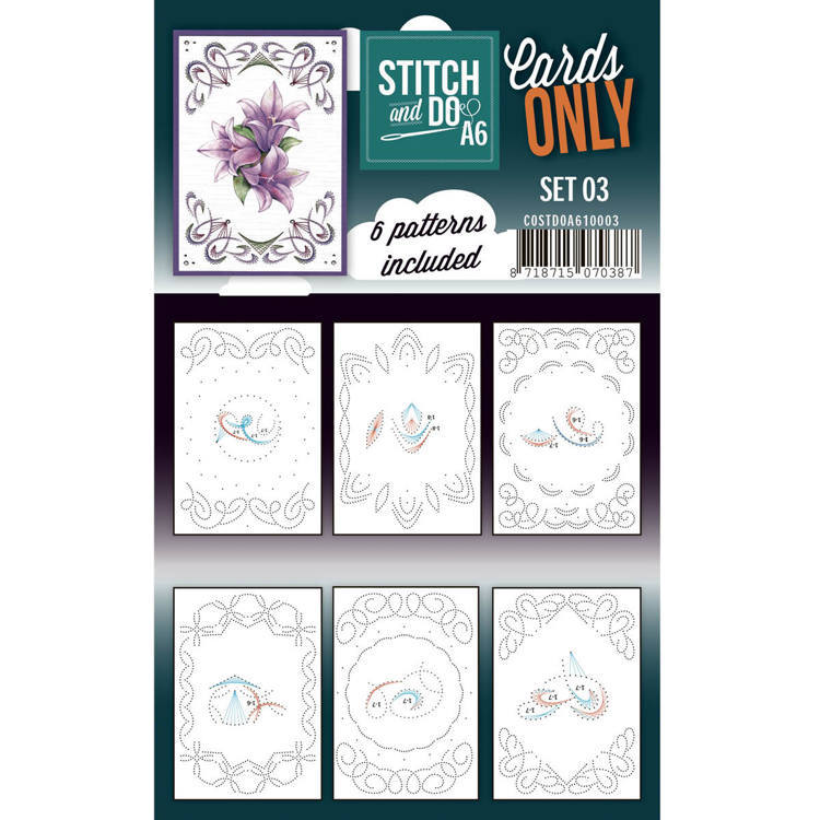 Cards only Stitch & Do Set 3 A6