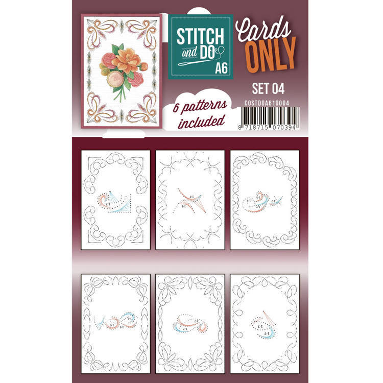 Cards only Stitch & Do Set 4 A6
