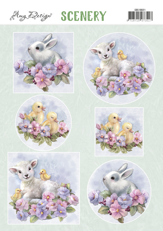 Push Out Scenery - Yvonne Creations - Spring Animals