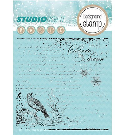 Studio Light - Clear stempel - Background Christmas