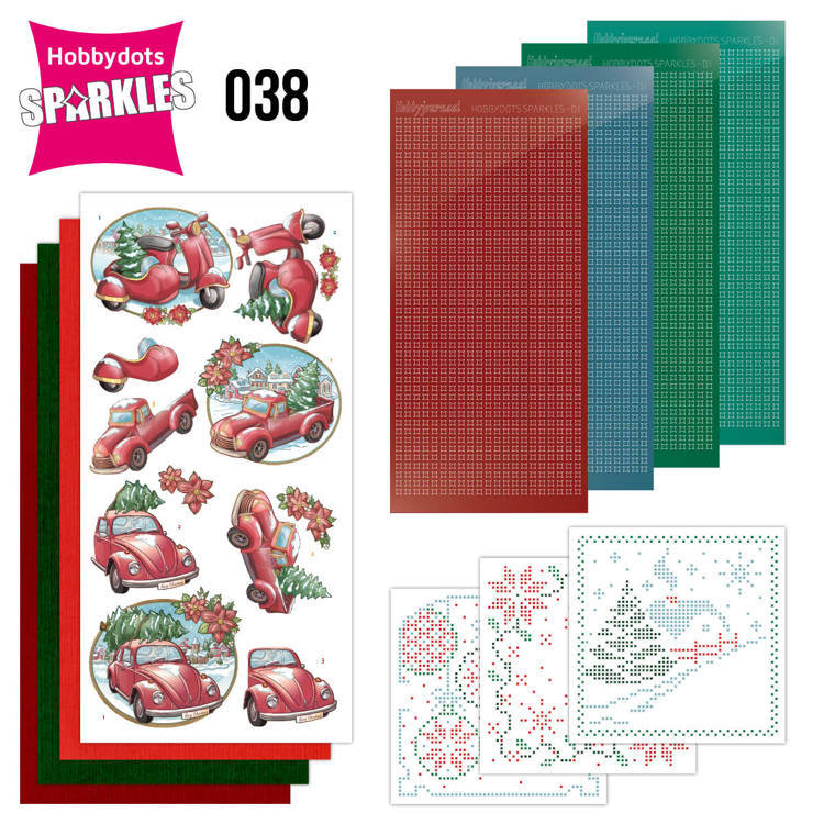 Sparkles Set 38 -  Yvonne Creations - Christmas Transportation