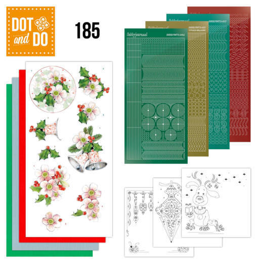 Dot and Do 185 - Pink Christmas Flowers