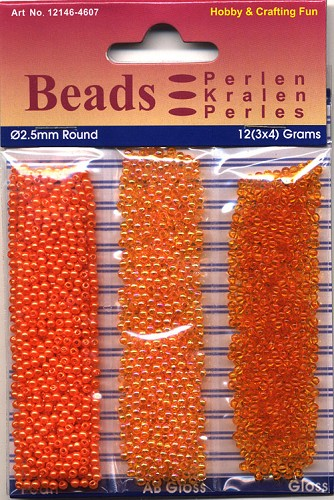 Round Pearl Trio 2,5mm 3x4 gram Orange