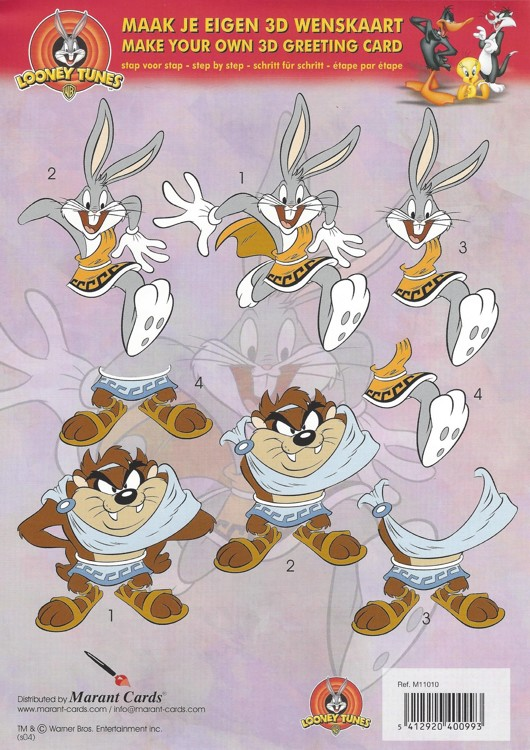 Looney Tunes 3D knipvel A4 Bugs and Taz