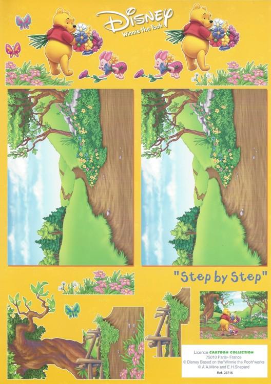 disney 3d knipvel a4 winnie the pooh landscape de mobiele