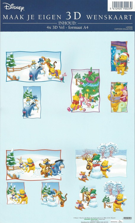 Disney Toppers pakket A4 Winnie the Pooh in the snow