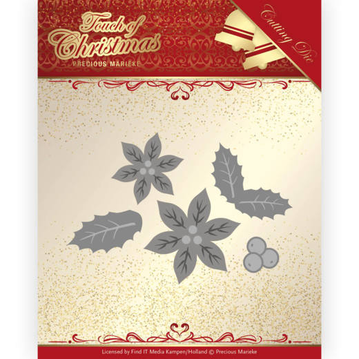 Dies - Precious Marieke - Touch of Christmas - Poinsettia
