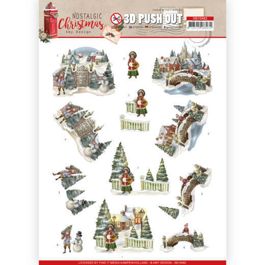 3D Push Out - Amy Design - Nostalgic Christmas - Christmas Village