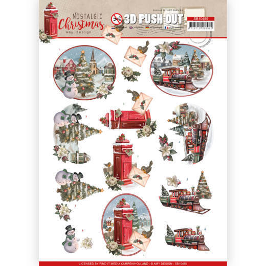 3D Push Out - Amy Design - Nostalgic Christmas - Christmas Train