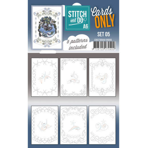 Cards only Stitch & Do Set 5 A6