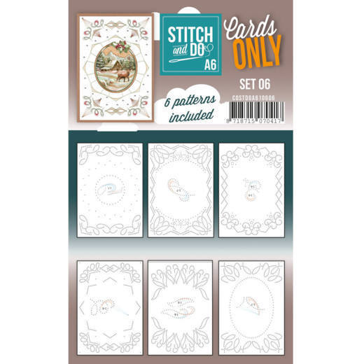 Cards only Stitch & Do Set 6 A6