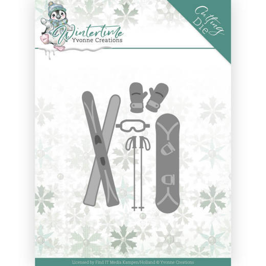 Dies - Yvonne Creations - Winter Time - Ski Accessories