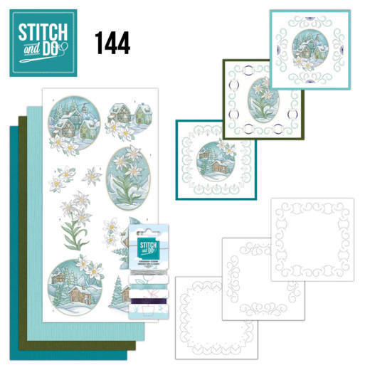 Stitch and Do 144 - Yvonne Creations - Wintertime - Edelweis