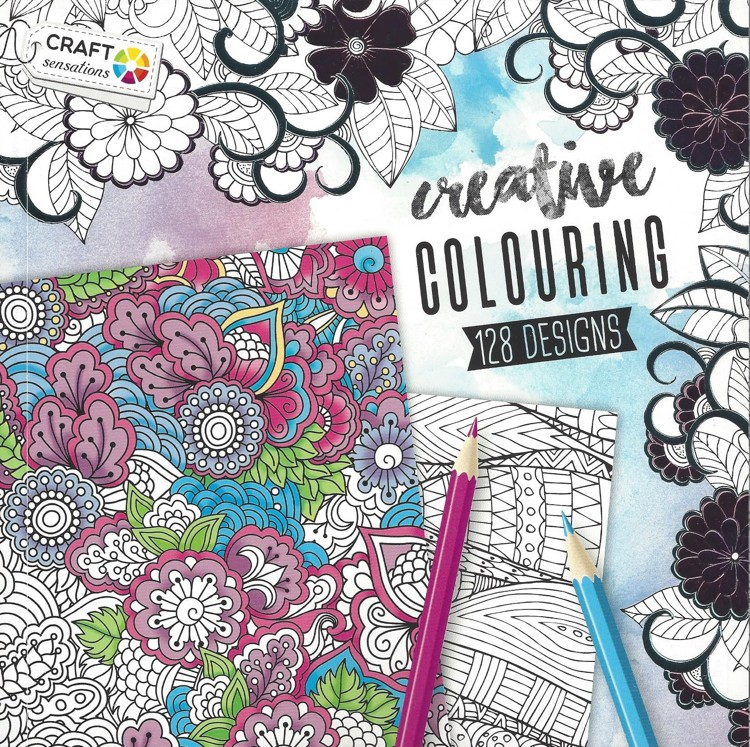 Book 20x20cm Creative Colouring for Adults