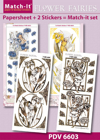 Match-It Set Flower Fairies korenbloem en iris