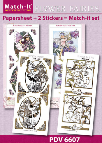 Match-It Set Flower Fairies heliotrope en canterburry