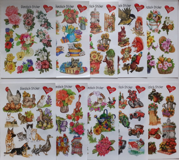 Glans Sticker Pakket 10 vellen A4 Daily