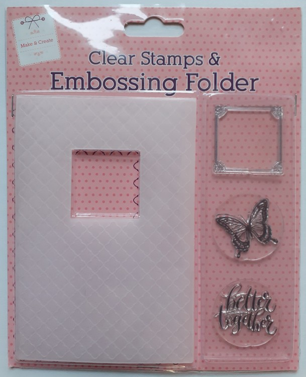 Clear Stamps & Embossing Folder better together