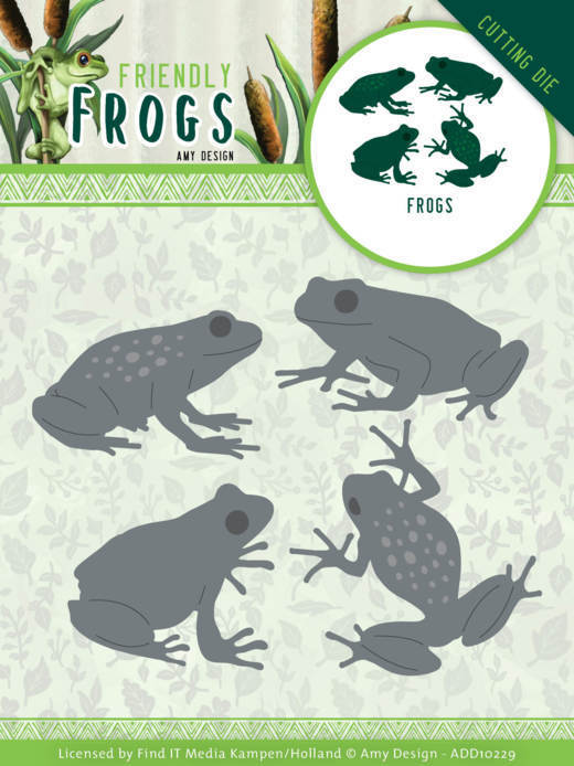 Dies - Amy Design - Friendly Frogs - Frogs
