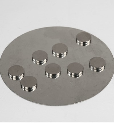 Magnets 10x2mm on metal plate 8 stuks Extra Strong