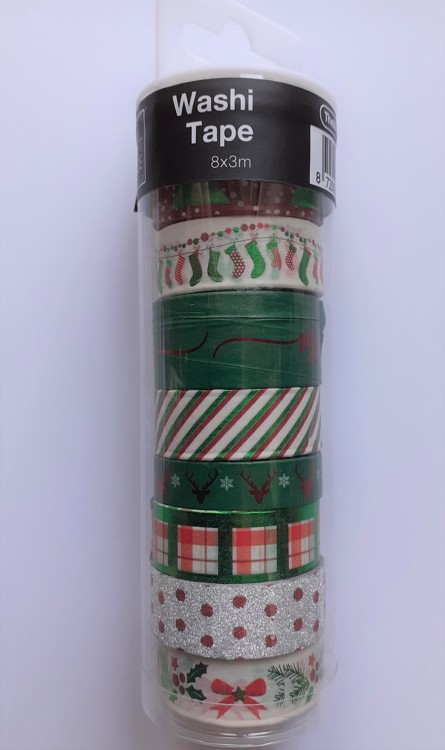 WASHI Tape 8 rolletjes van 3 meter