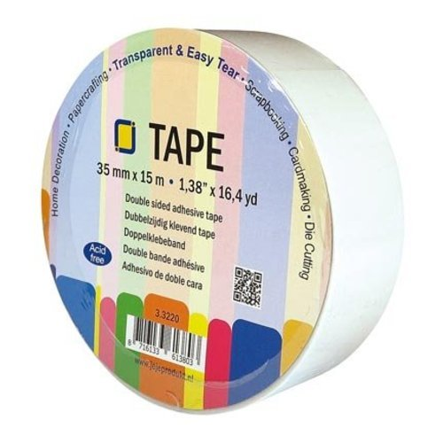 JEJE Dubbelzijdig tape 35 mm breed 15 mtr