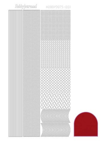 Hobbydots stickervel Serie 1 Mirror Red