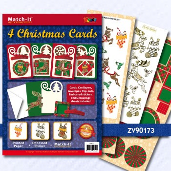 Doodey Match-it X-mas cards rendier