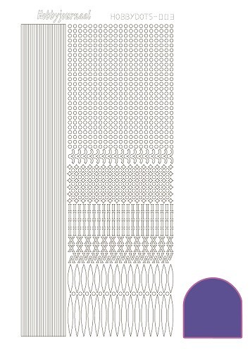 Hobbydots stickervel Serie 3 Mirror Purple