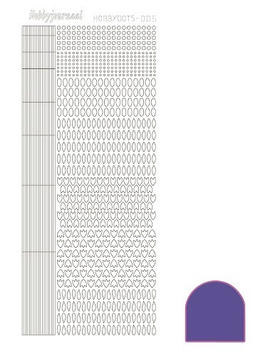 Hobbydots stickervel Serie 5 Mirror Purple