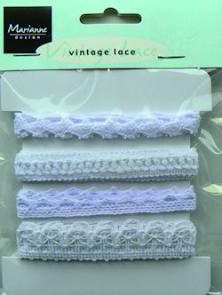 MD Vintage Ribbons White