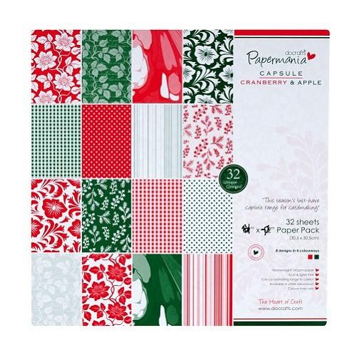 DC Paper pack Cranberry & Apple 32vel 15,2x15,2cm