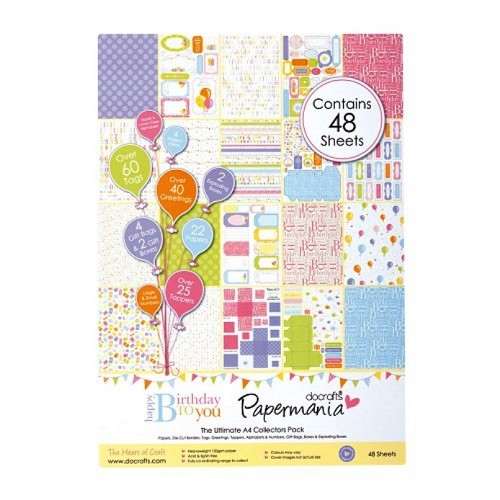 Ultimate Die-Cut & Paper Pack Happy Birthday To You 48 vellen