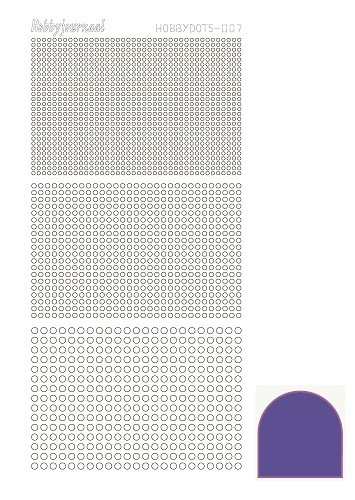 Hobbydots stickervel Serie 7 Mirror Purple