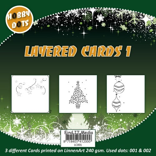 Hobbydots Layered Cards Christmas nr.1