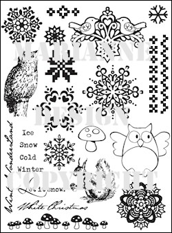 MD Eline`s Clear Stamps Let it snow