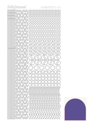 Hobbydots stickervel Serie 11 Mirror Purple