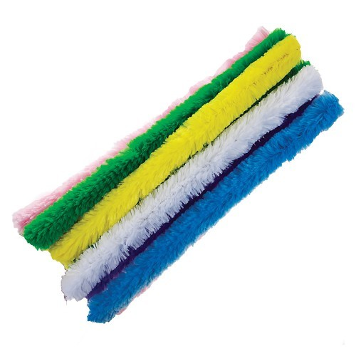 SUPER FLUFFY PIPE CLEANERS (EASTER COLOURS) - 10PCS