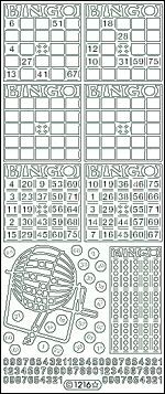 Starform stickervel Bingo Zilver