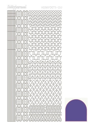 Hobbydots stickervel Serie 12 Mirror Purple