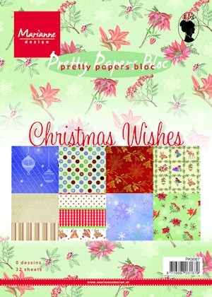 MD Pretty Papers bloc A5 Christmas wishes